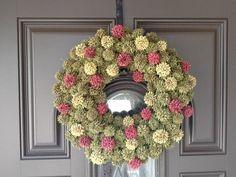 Here's my sweet gumball tree wreath