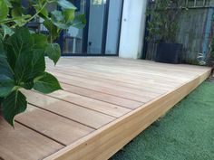 The Tools Needed When Laying Decking Laying Decking, Decking Area, Hardwood Decking, Timber Deck, Deck Design, Garden Design, Balau Decking, Raised Patio, Deck With Pergola