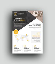 This corporate flyer is designed in Photoshop. All PSD files are very well organized flyer templates. Graphic Design Flyer, Web Design, Brochure Design, Business Flyer Templates, Flyer Design Templates, Print Templates, Letterhead Template, Brochure Template, Corporate Flyer