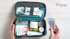 This summer keep your first-aid kit on hand! The Glamour Case is just what you need to store band-aids, peroxide and more!