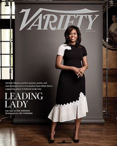 First Lady of the United States Michelle Obama slays with elegance and grace for Variety magazine's newest issue as their cover star. The stylish First Lady got glammed up in… Michelle Obama Quotes, Michelle Et Barack Obama, Barack Obama Family, Michelle Obama Fashion, Obamas Family, American First Ladies, American Women, American History, First Ladies
