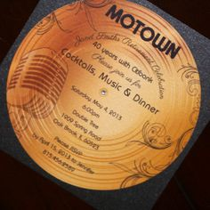 motown wedding theme | Gold Record Motown Retirement Invitation | Too Chic & Little Shab ...