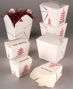 Fold-Pak Chinese Take-Out Boxes You gotta eat some dinner. Can't live on sweets alone...or can you?