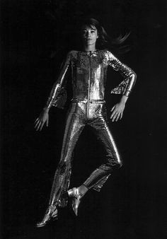 Paco Rabanne - model: Françoise Hardy, photographed by Bailey for French Vogue,February 1968.