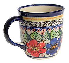 Polish Pottery Mug 12 Oz. From Zaklady Ceramiczne Boleslawiec 1105-233 Art Signature Pattern, Capacity: 12 Oz. * For more information, visit image link.