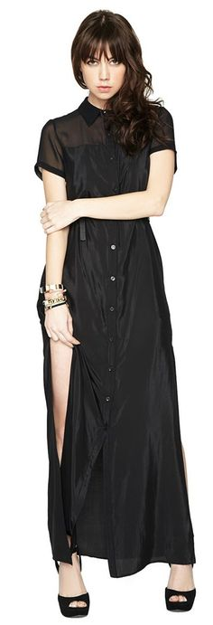 Bcbgeneration Short Sleeve Shirtdress BLACK