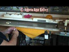Machine knitted dishcloth video