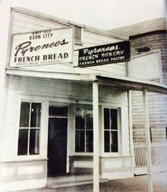 The original Pyrenees Bakery building, it was donated to Kern County Museum in Bakersfield, California on May 17, 1961