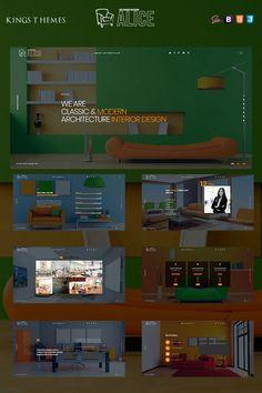 Alice - Interior Design Landing Page Template #93940