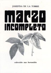 Marzo incompleto, revista Fantasía, 1947;  2.ª edición Las Palmas de Gran Canaria (colección San Borondón), 1968.