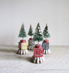 Bottle Brush Christmas Tree Ornament