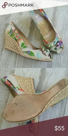 Stuart Weitzman Tropical Wedges Great conditon.  Like new.  Size 10. Stuart Weitzman Shoes Wedges