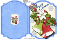 Lovely Bracket Print Cut and Fold Christmas Bells  on Craftsuprint - Add To Basket!
