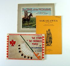 Vintage Books Home School Woodland Native by injoytreasures, $15.00