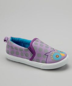 Take a look at this Lilac Owl Slip-On Sneaker by Chatties on #zulily today!