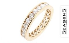 Gold ring with diamonds by Seasons Fine Arts