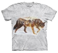 Snow Wolf T-Shirt by The Mountain available from the Wolf Den Store