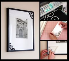 cricut.com design by Natalie Malan - Embellished Picture Mat.  So easy!