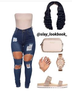 Source by samanthakatalin tween outfits for school Baddie Outfits Casual, Boujee Outfits, Teen Fashion Outfits, Dope Outfits, Girly Outfits, Polyvore Outfits, Jeans Fashion, School Outfits, Freshman Outfits