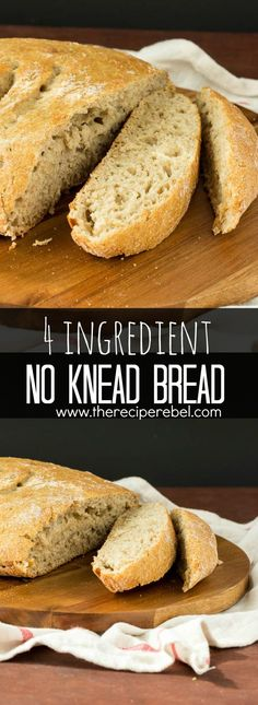 Hearty, chewy, no knead bread that comes together in minutes! Sits on the counter to rise and bakes up with a perfectly golden crust, great for dipping. So easy!