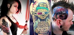 41 Star Wars Tattoos Collection Two Star Wars Tattoo, Popular Culture, Framed Artwork, Guys, Stars, Tattoos, Fictional Characters, Collection, Tatuajes