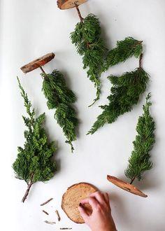 DIY Fresh Mini Christmas Trees//