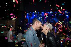 Enthusiastic couple enjoying New Year celebration