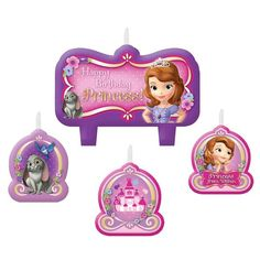 Check out Sofia the First Birthday Candle Set - Candles & Decorations from Birthday In A Box