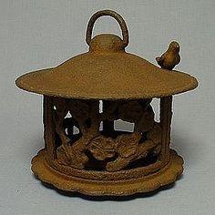 Cast iron garden lantern