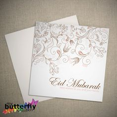 Printable Eid Mubarak Card Digital Download by MyButterflyGallery