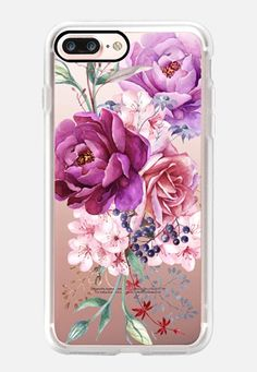 Purple Peony Watercolor Floral Bouquet iPhone case by Ruby Ridge Studios Floral Iphone Case, Iphone 6 Plus Case, Apple Watch Iphone, Purple Peonies, Purple Flowers, Coque Iphone, Iphone Accessories, Floral Bouquets, Floral Watercolor