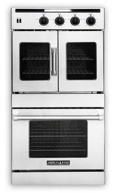 """AROFSG-230N American Range 30"""" Legacy French Door Top / Chef Door Bottom Gas Double Wall Oven - Natural Gas - Stainless Steel"""