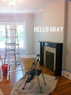 Gray Owl @ half tint via InspiredKara Home Decor Colors, House Colors, Home Wall Colour, Benjamin Moore Colors, Favorite Paint Colors, Living Room Paint, House Painting, Diy Painting, Grey Walls
