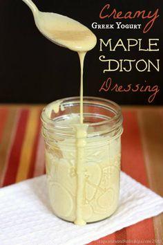 Creamy Maple Dijon Greek Yogurt Salad Dressing title