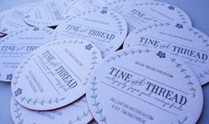 Cardview.net – Business Card & Visit Card Design Inspiration Gallery » Tine and Thread Business Card