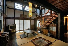 Interior of old Japanese house