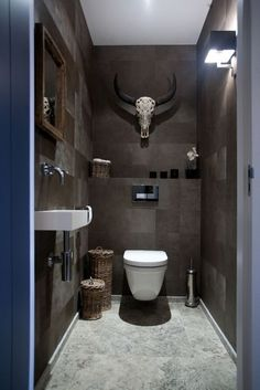 Architecture & Design: 40 Of The Best Modern Small Bathrooms & Functional Toilet Design Ideas – Amazing Architecture Magazine Small Toilet Room, Guest Toilet, Downstairs Toilet, Small Toilet Design, Man Cave Bathroom, Bathroom Toilets, Man Cave Toilet, Modern Small Bathrooms, Modern Bathroom
