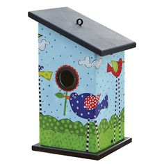 Totally fun birdhouse offers swell digs to raise a family! Maintenance-free vinyl birdhouse creates a whimsical spot in the garden. Won't rot, crack, warp or mildew. Superior features afford a safe an