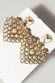 Sweet Cutout Heart Drop Earrings