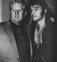 """Elvis with his Dad, Vernon @ the """"Las Vegas"""" press conference August 01, 1969"""