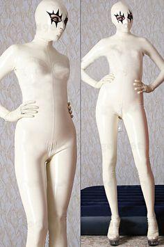 ラテックス全身タイツ   ほのお目 かっこいい 混色  キャットスーツ [#JP516860] - 21,600円
