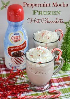 Peppermint Mocha Frozen Hot Chocolate