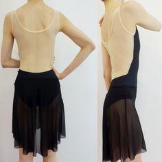 Yumiko Meagan N-Black Mesh-Brule T-Nude trim Isabelle Long Mesh-Black