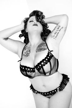 Cortney Maylee Big curvy plus size women are beautiful! fashion curves tattoos real women