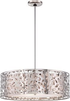 Kovacs P7986-077 4 Light Drum Pendant from the Layover Collection, Chrome - Ceiling Pendant Fixtures - Amazon.com