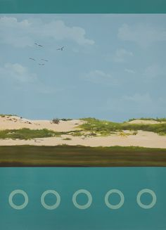 Sand Dunes, 22 by 30 inches, Acrylic on paper, from www.kazaan.com