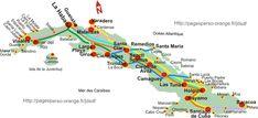 Cienfuegos, Vinales, Varadero, Santa Lucia, Map Of Cuba, Bus Map, Destinations, Cuba Travel, Havana Cuba