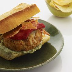 Spanish Pork Burgers |  Chef Sang Yoon, who makes some of America's best burgers, flavors his succulent pork patty with Spanish ingredients like piquillo peppers and serrano ham.