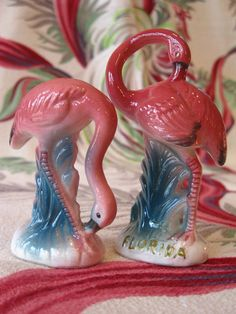 Vintage Florida flamingo salt and pepper shakers by 3floridagirls