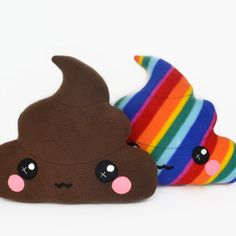 Happy Poop Unicorn Rainbow drop pee  kawaii plushie humor plush toy kawaii pillow cushion